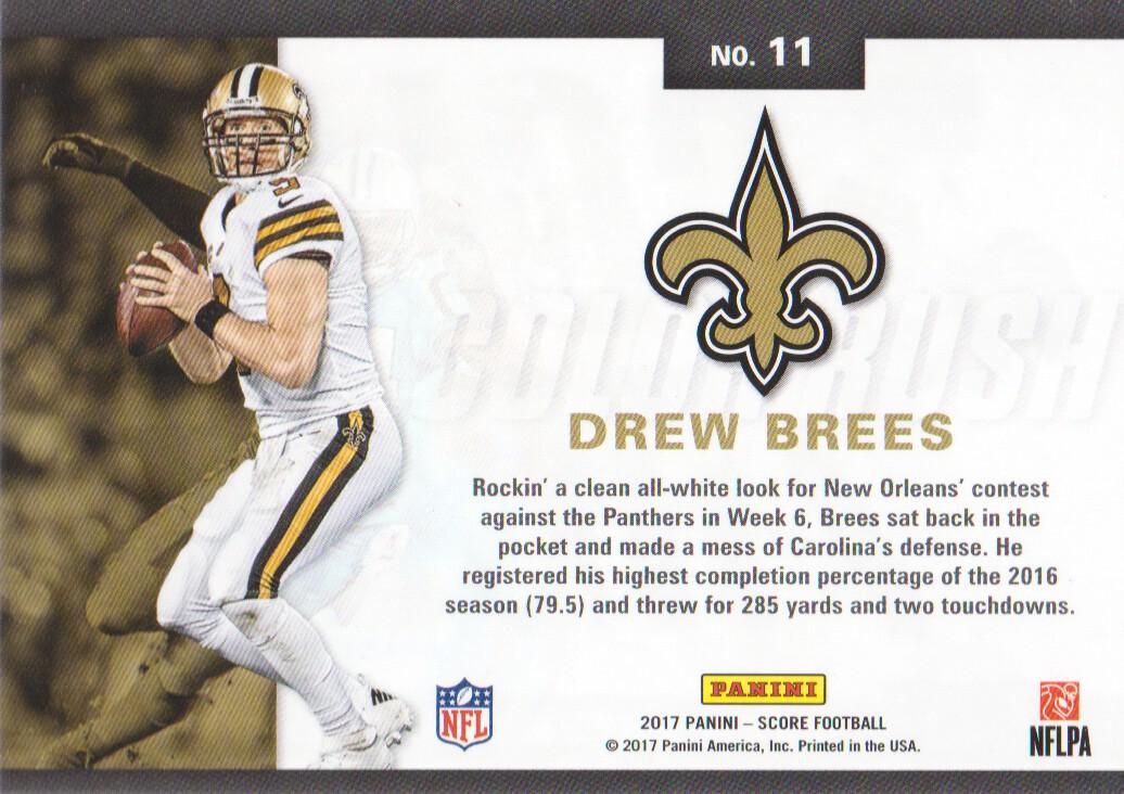 size 40 8c2a8 18abe Details about 2017 Score Football Color Rush #11 Drew Brees New Orleans  Saints