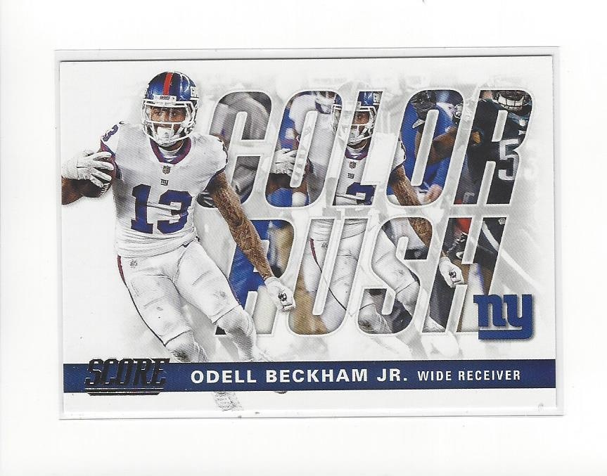 best sneakers 0653a 3fe7b Details about 2017 Score Color Rush #19 Odell Beckham Jr. Giants