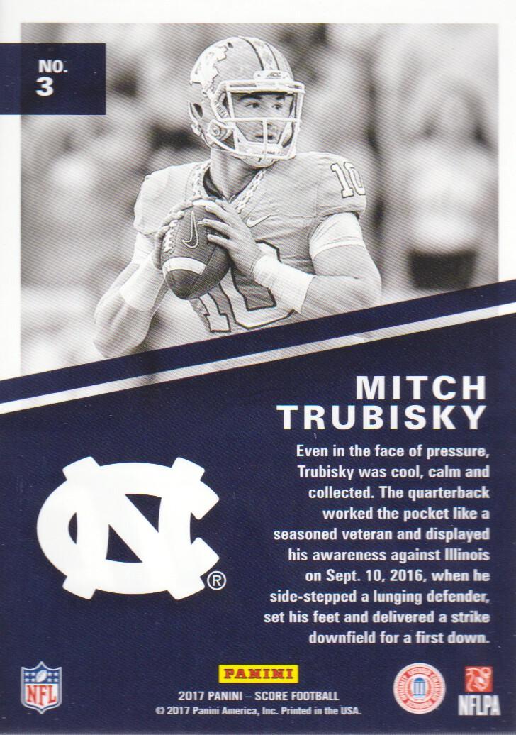 2017 Score Football Hype #3 Mitchell Trubisky North ... North Carolina Football Score