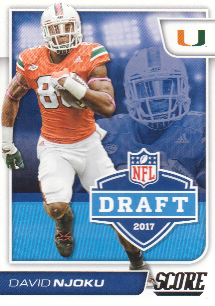 2017 Score Football Nfl Draft 16 David Njoku Miami Hurricanes Ebay