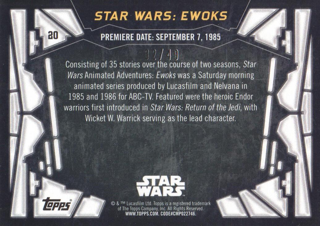 2017 Star Wars 40th Anniversary Gold #20 Star Wars: Ewoks back image