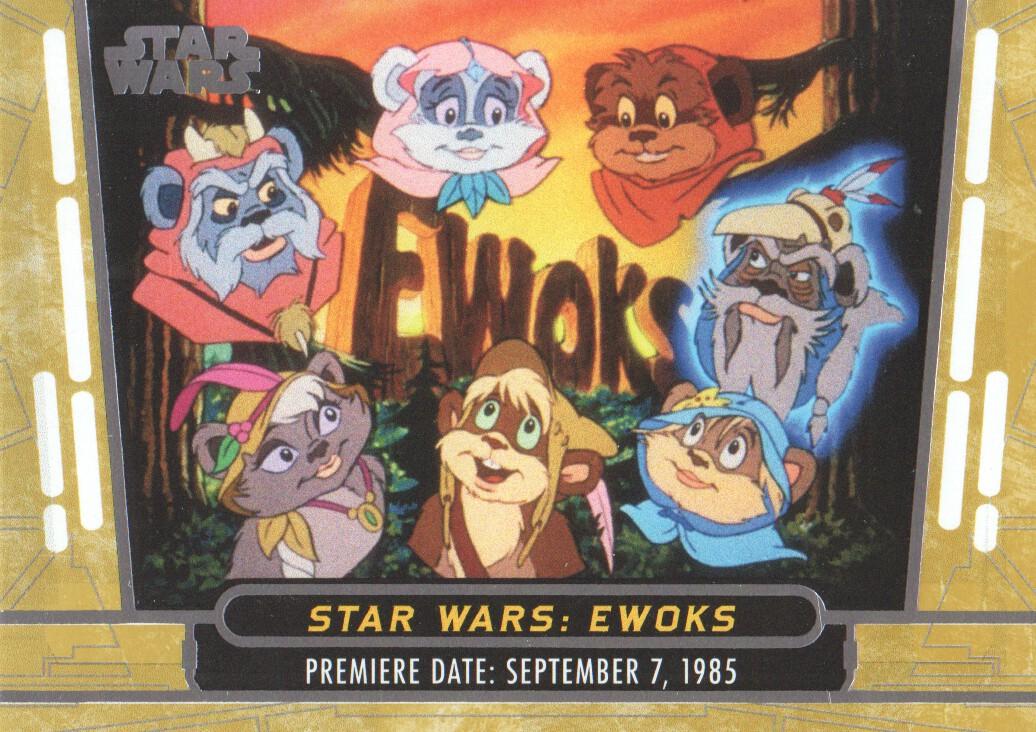 2017 Star Wars 40th Anniversary Gold #20 Star Wars: Ewoks