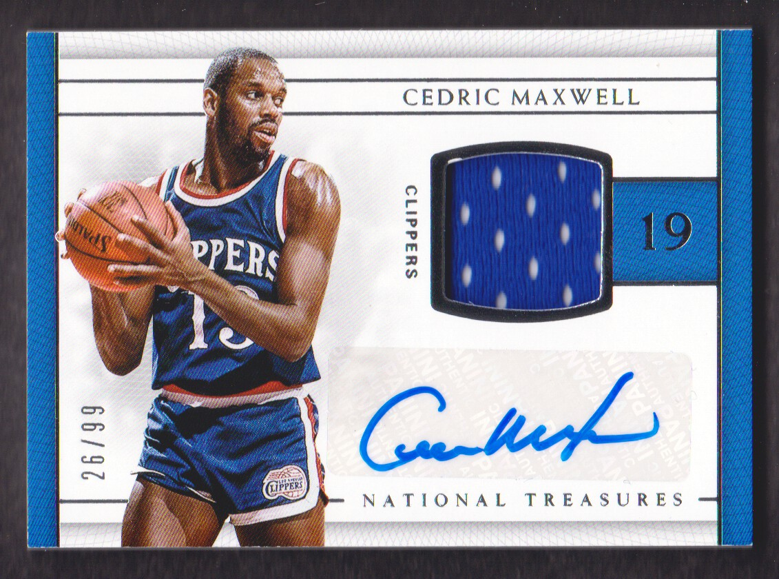 2016 17 National Treasures Jersey Autograph 2 Cedric Maxwell 26