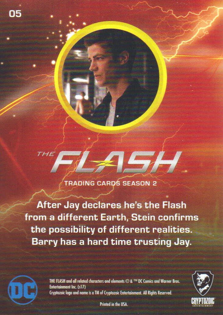 2017 The Flash Season 2 Rainbow Foil #5 Flash from Another Earth? back image