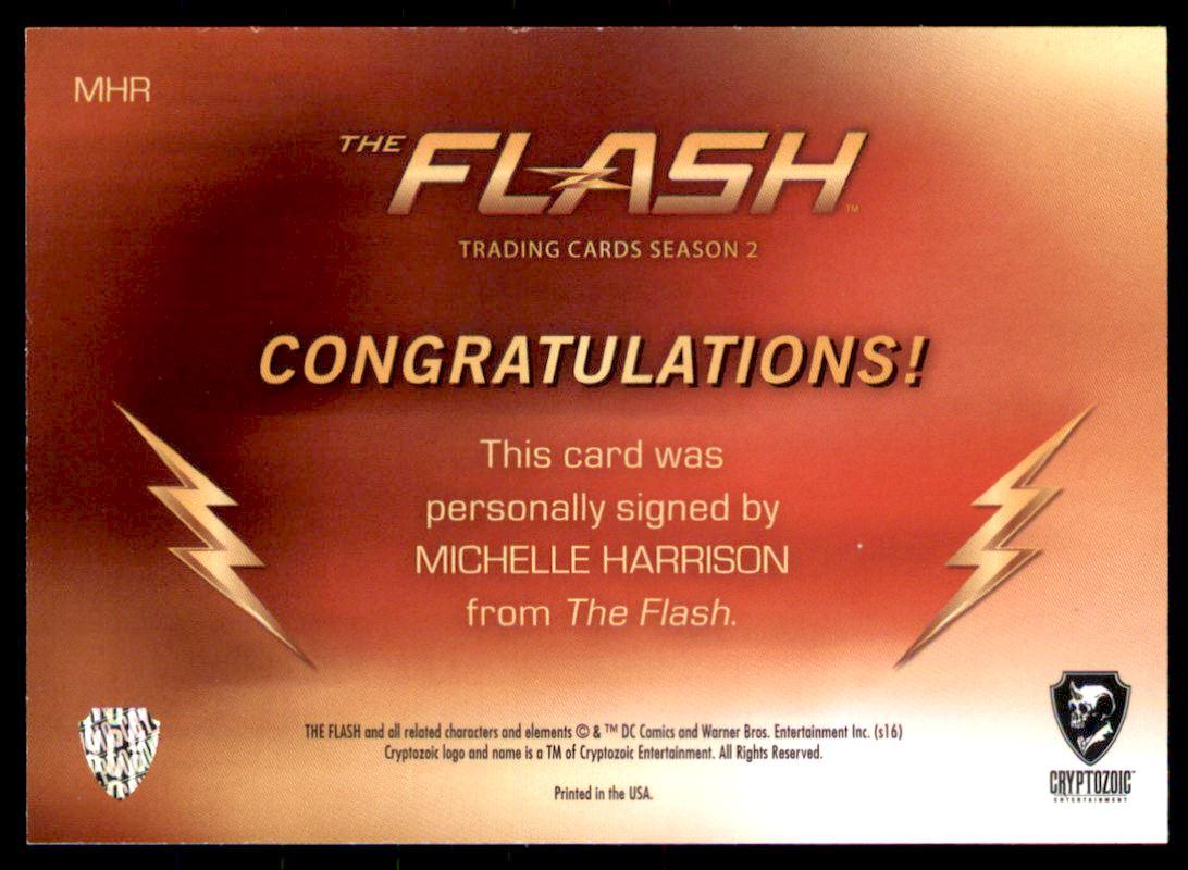 2017 The Flash Season 2 Autographs #MH Michelle Harrison as Nora Allen back image