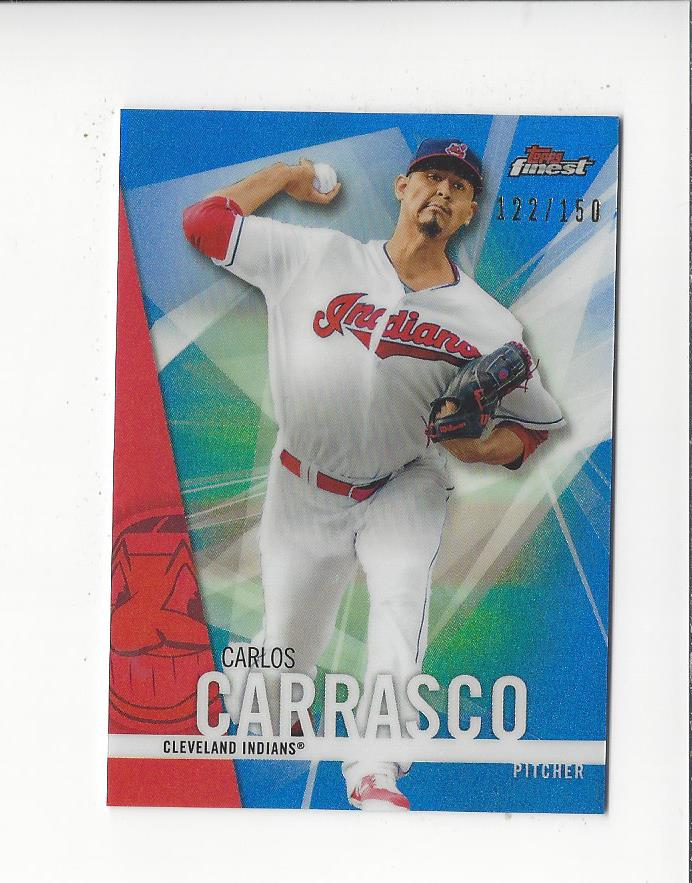 2017 Finest Blue Refractors #20 Carlos Carrasco