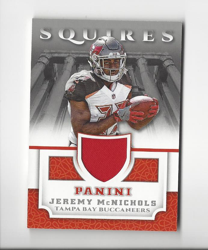 huge selection of dfa8a 243a3 Details about 2017 Panini Squires #39 Jeremy McNichols Rookie JERSEY  Buccaneers