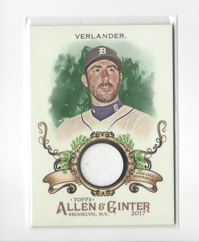 finest selection b5975 684a4 Details about 2017 Allen & Ginter Justin Verlander JERSEY Tigers