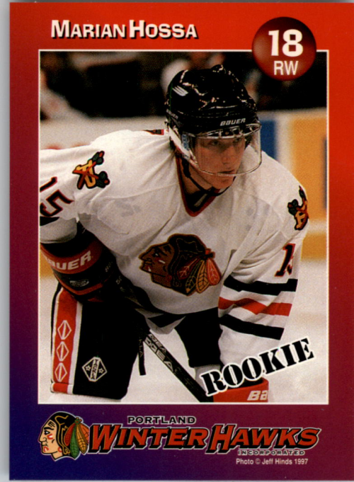 1997-98 Portland Winter Hawks #4 Marian Hossa