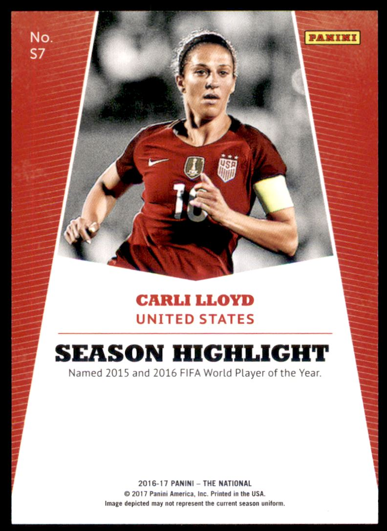 2017 Panini National Convention Rainbow Spokes #S7 Carli Lloyd back image