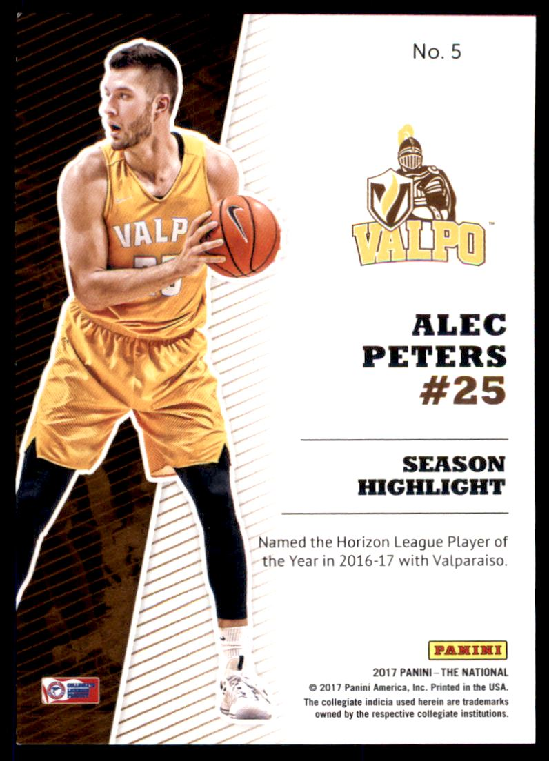 2017 Panini National Convention Prospects Rainbow Spokes #5 Alec Peters back image