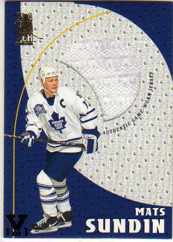 1998-99 Be A Player Playoff Game Used Jerseys #G2 Mats Sundin