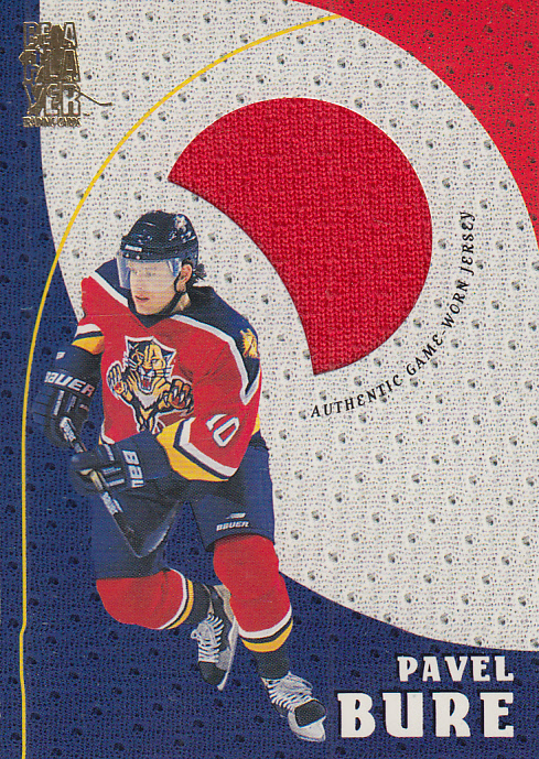 1998-99 Be A Player Playoff Game Used Jerseys #G10 Pavel Bure