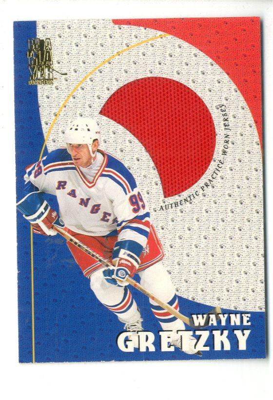 1998-99 Be A Player Playoff Practice Used Jerseys #P24 Wayne Gretzky