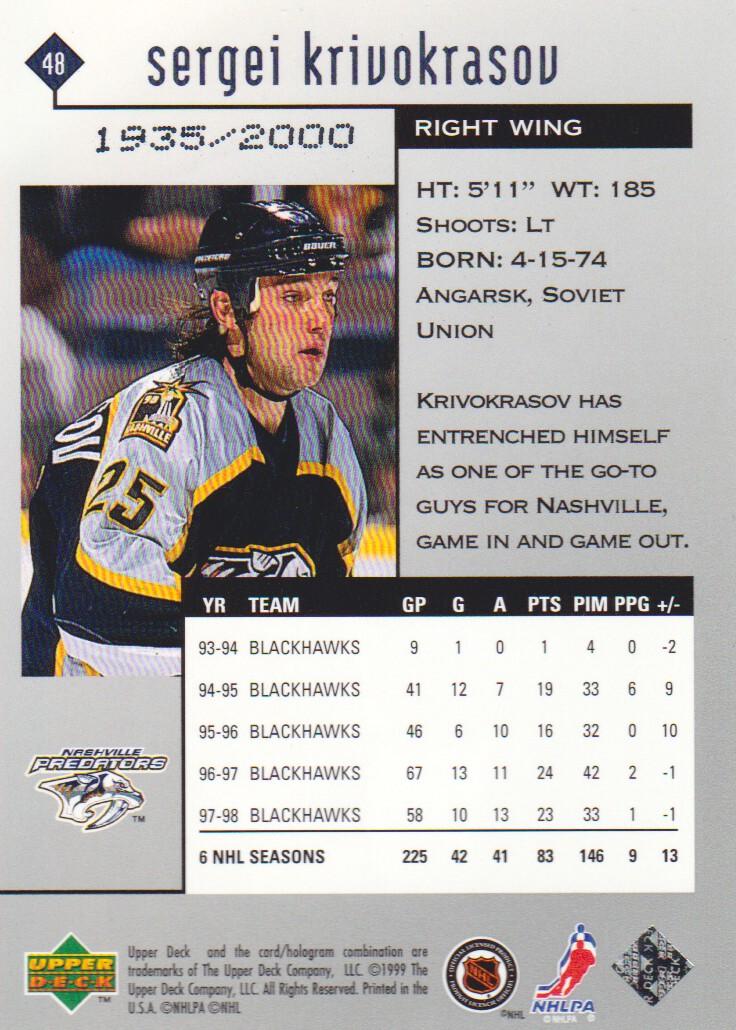 1998-99-Black-Diamond-Double-Diamond-Parallel-Hockey-Cards-Pick-From-List miniature 5