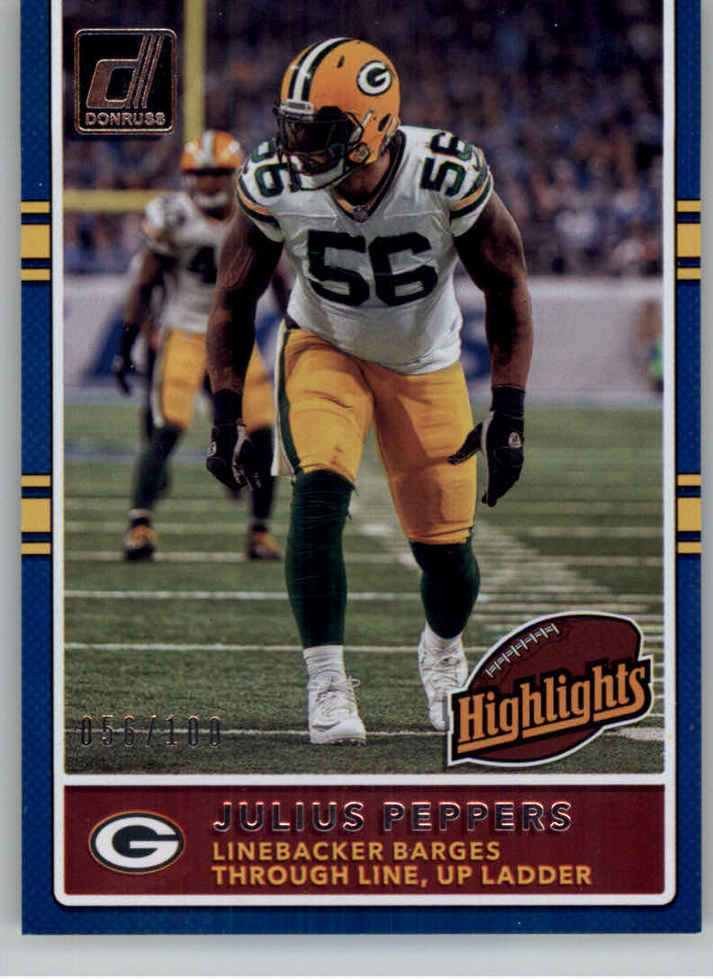 34f992bfa 2017 Donruss Highlights Holo  11 Julius Peppers