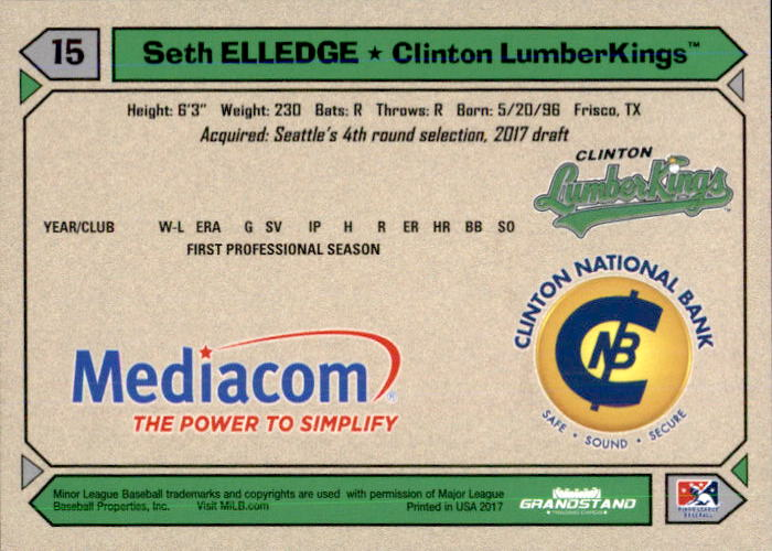 2017 clinton lumberkings update grandstand 2 seth elledge frisco 2017 clinton lumberkings update grandstand 2 seth elledge frisco texas tx card reheart Gallery