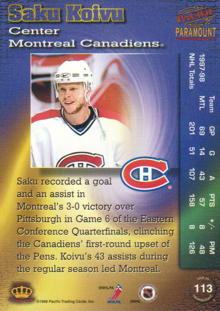 1998-99-Paramount-Copper-Parallel-Hockey-Cards-Pick-From-List thumbnail 27