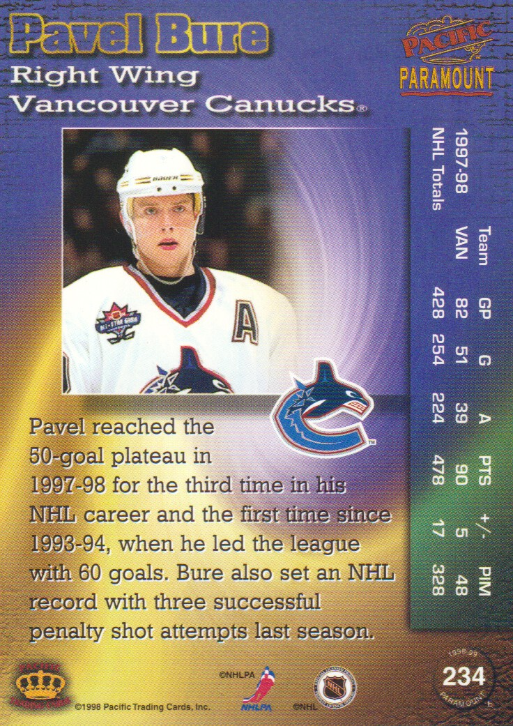 1998-99-Paramount-Copper-Parallel-Hockey-Cards-Pick-From-List thumbnail 49