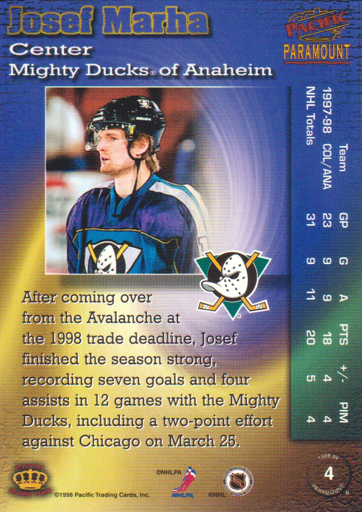 1998-99-Paramount-Emerald-Parallel-Hockey-Cards-Pick-From-List thumbnail 3