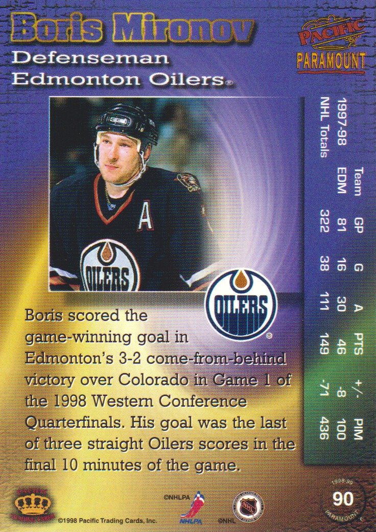 1998-99-Paramount-Emerald-Parallel-Hockey-Cards-Pick-From-List thumbnail 17