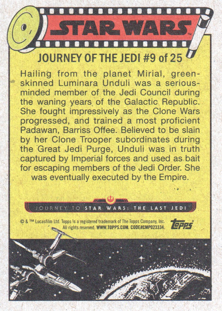2017-Topps-Star-Wars-Journey-to-The-Last-Jedi-Trading-Cards-Pick-From-List miniature 19