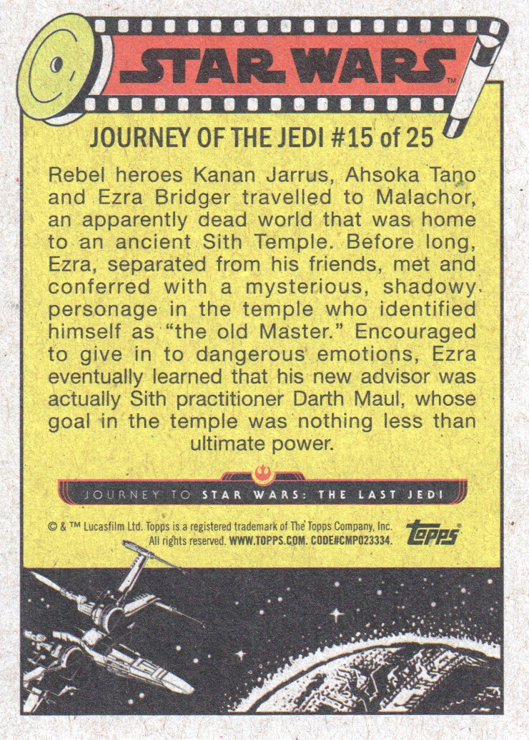 2017-Topps-Star-Wars-Journey-to-The-Last-Jedi-Trading-Cards-Pick-From-List miniature 31