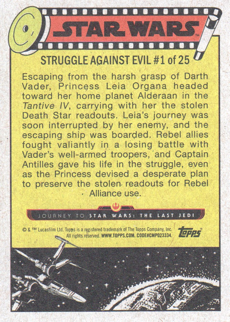 2017-Topps-Star-Wars-Journey-to-The-Last-Jedi-Trading-Cards-Pick-From-List miniature 53