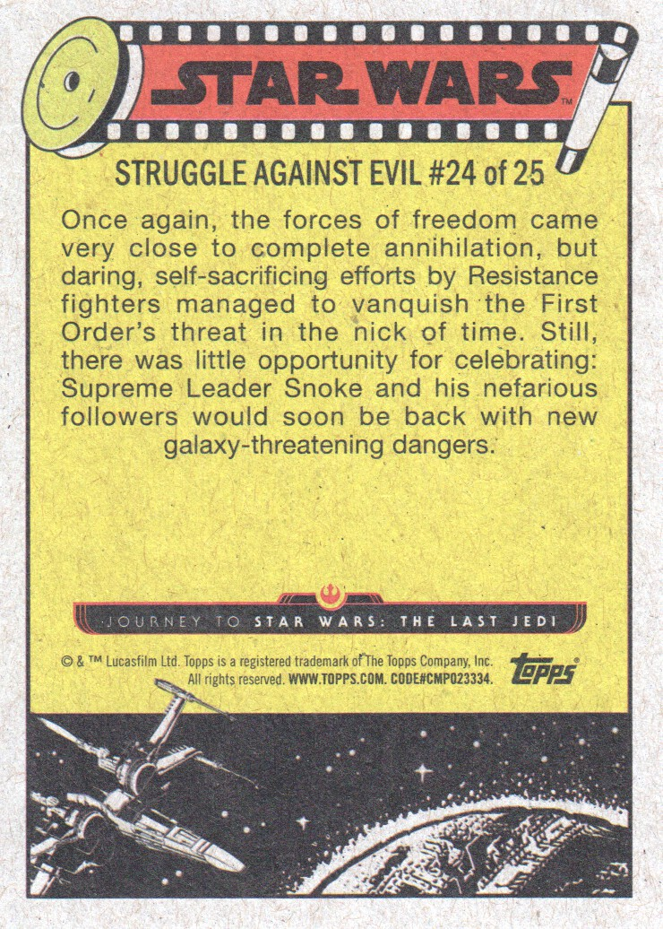2017-Topps-Star-Wars-Journey-to-The-Last-Jedi-Trading-Cards-Pick-From-List miniature 99