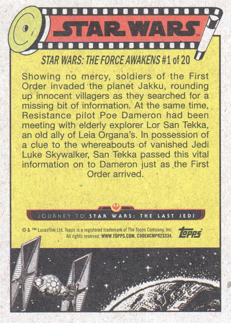 2017-Topps-Star-Wars-Journey-to-The-Last-Jedi-Trading-Cards-Pick-From-List miniature 141
