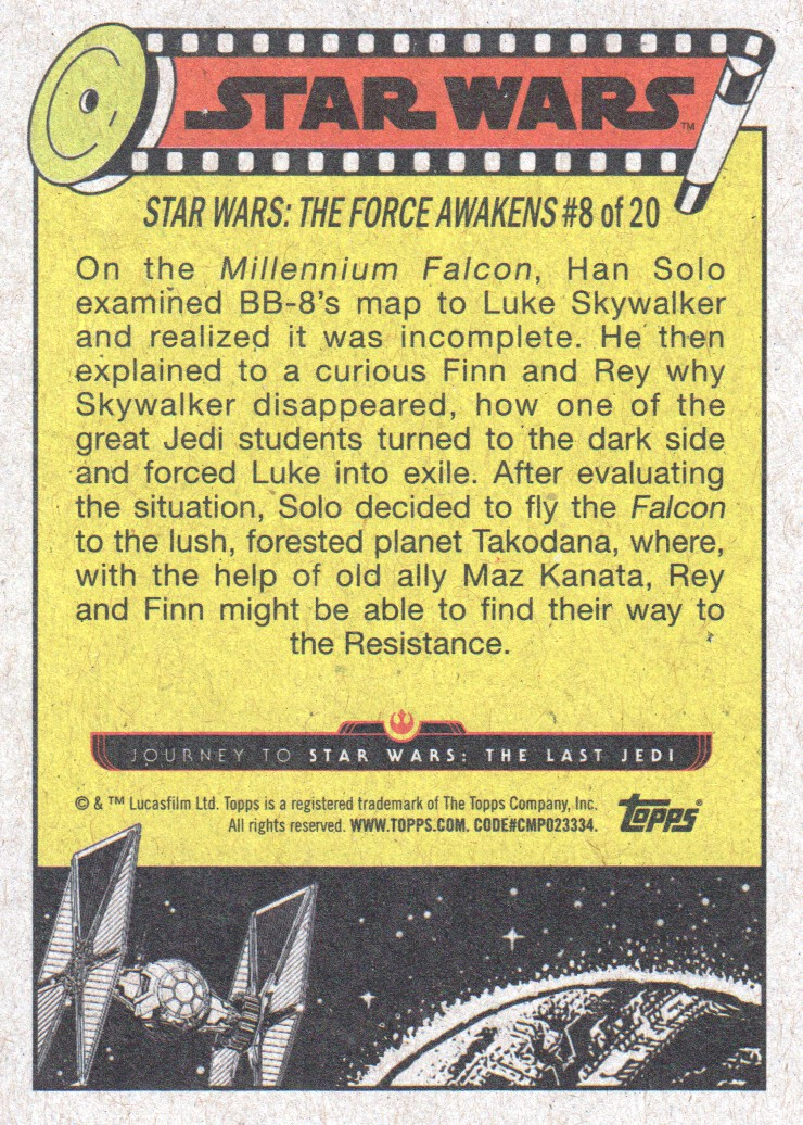 2017-Topps-Star-Wars-Journey-to-The-Last-Jedi-Trading-Cards-Pick-From-List miniature 155