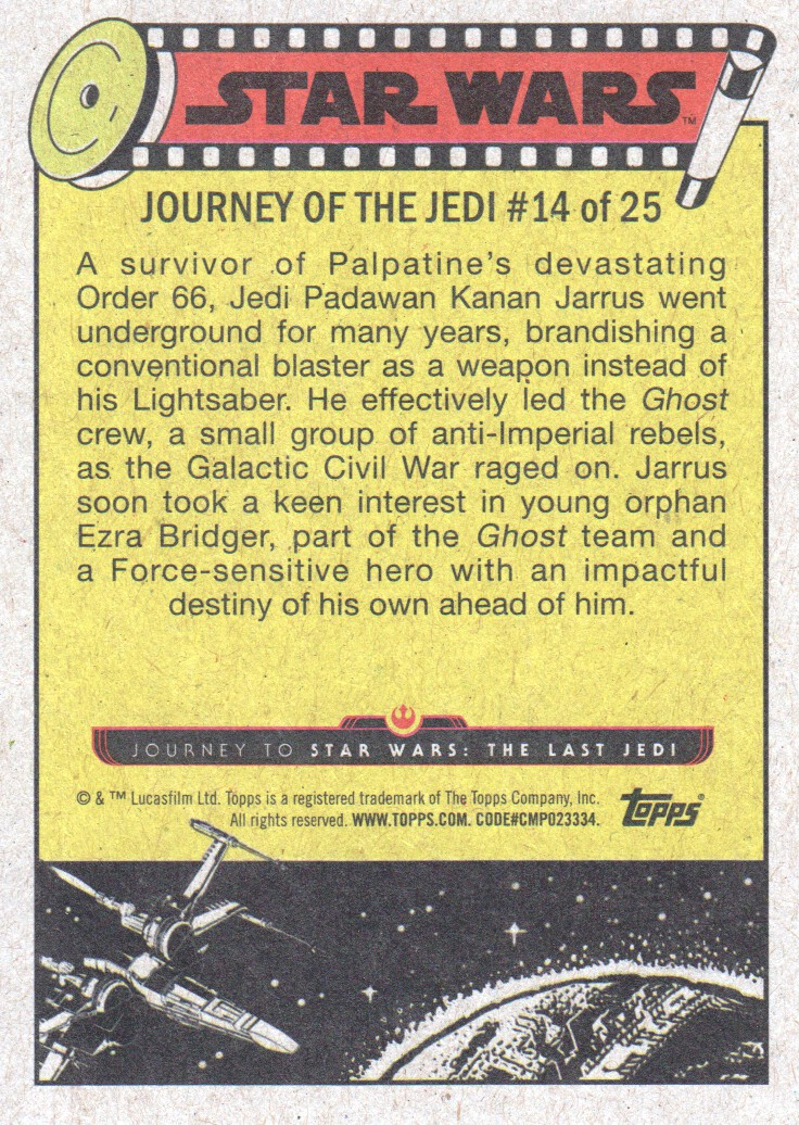 2017-Topps-Star-Wars-Journey-to-The-Last-Jedi-Trading-Cards-Pick-From-List miniature 325