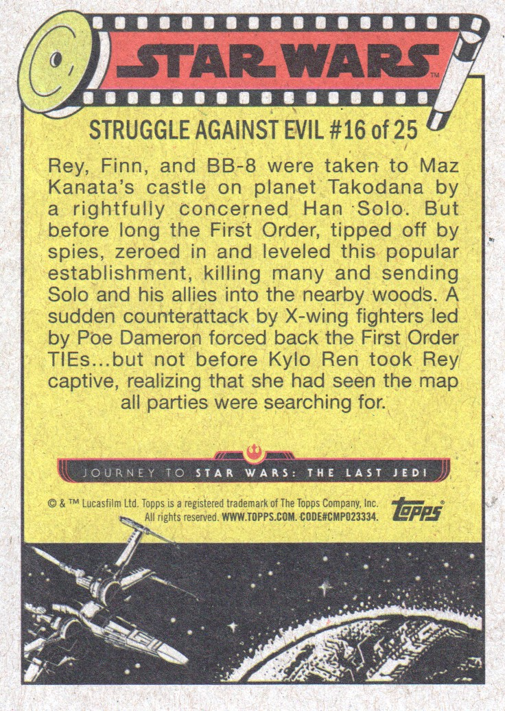 2017-Topps-Star-Wars-Journey-to-The-Last-Jedi-Trading-Cards-Pick-From-List miniature 341