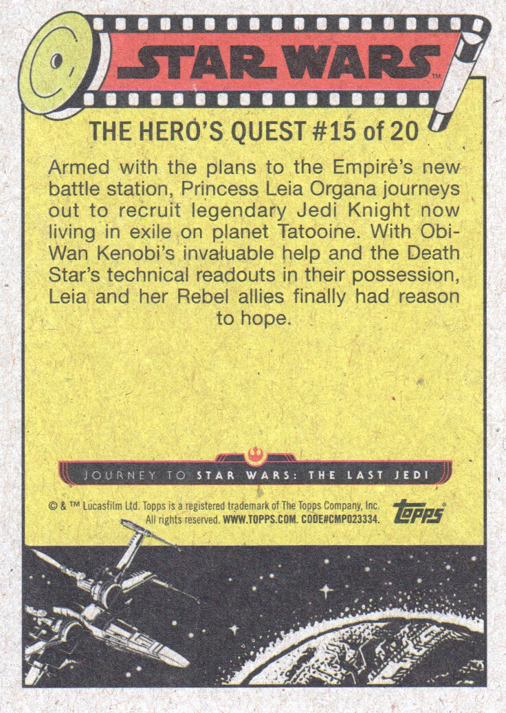 2017-Topps-Star-Wars-Journey-to-The-Last-Jedi-Trading-Cards-Pick-From-List miniature 369