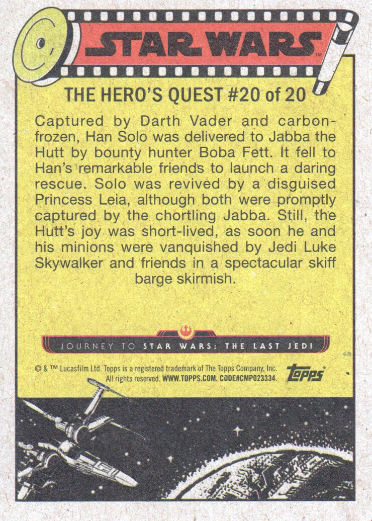 2017-Topps-Star-Wars-Journey-to-The-Last-Jedi-Trading-Cards-Pick-From-List miniature 377
