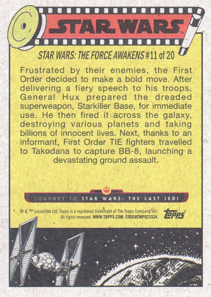 2017-Topps-Star-Wars-Journey-to-The-Last-Jedi-Trading-Cards-Pick-From-List miniature 383