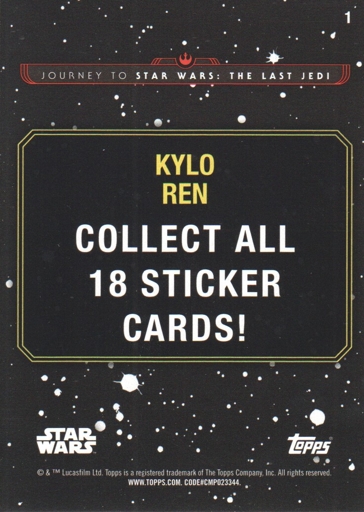 2017-Topps-Star-Wars-Journey-to-The-Last-Jedi-Trading-Cards-Pick-From-List miniature 287