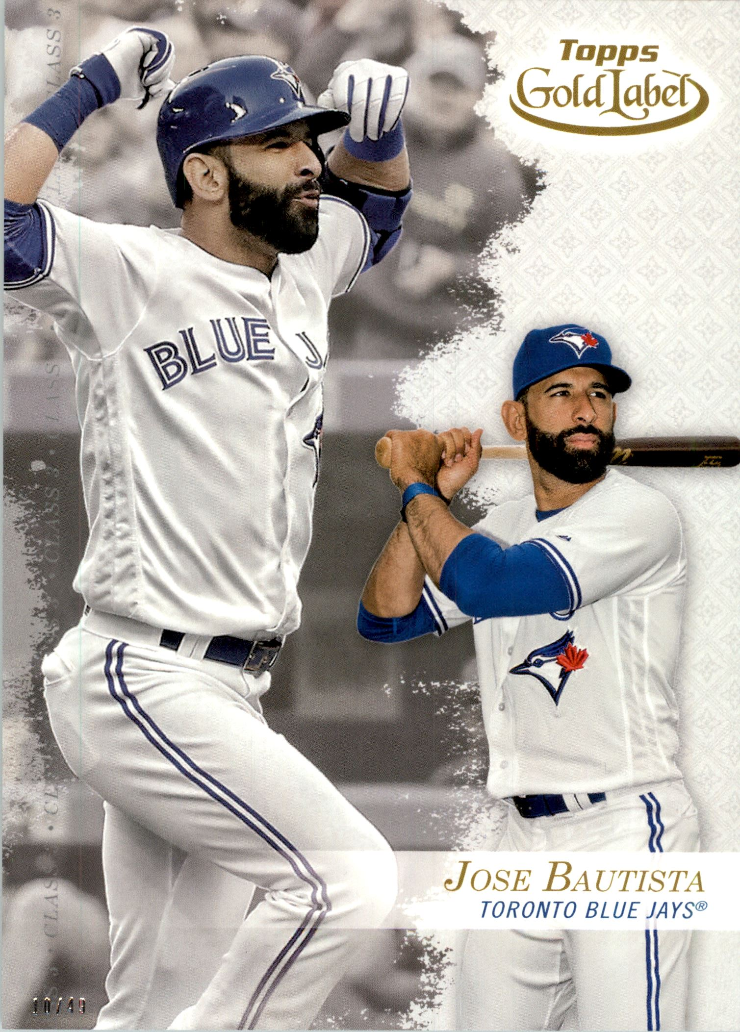 2017 Topps Gold Label 5x7 Class 3 #2 Jose Bautista
