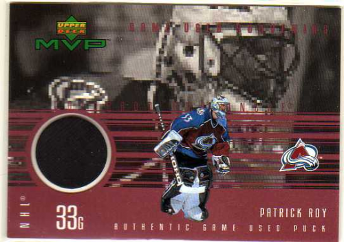 1998-99 Upper Deck MVP Game Souvenirs #PR Patrick Roy
