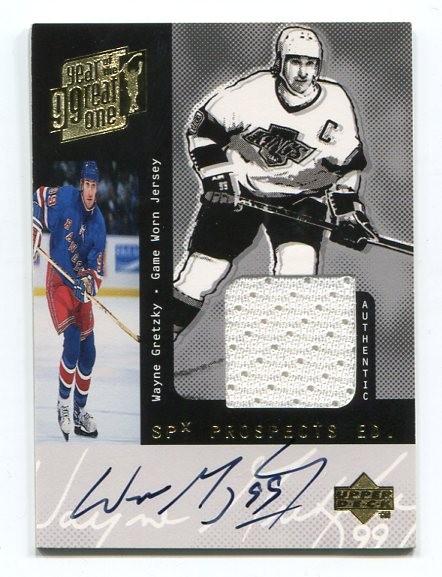 1998-99 Upper Deck Wayne Gretzky Game Jersey Autographs #SPX W.Gretzky SPxTP/40