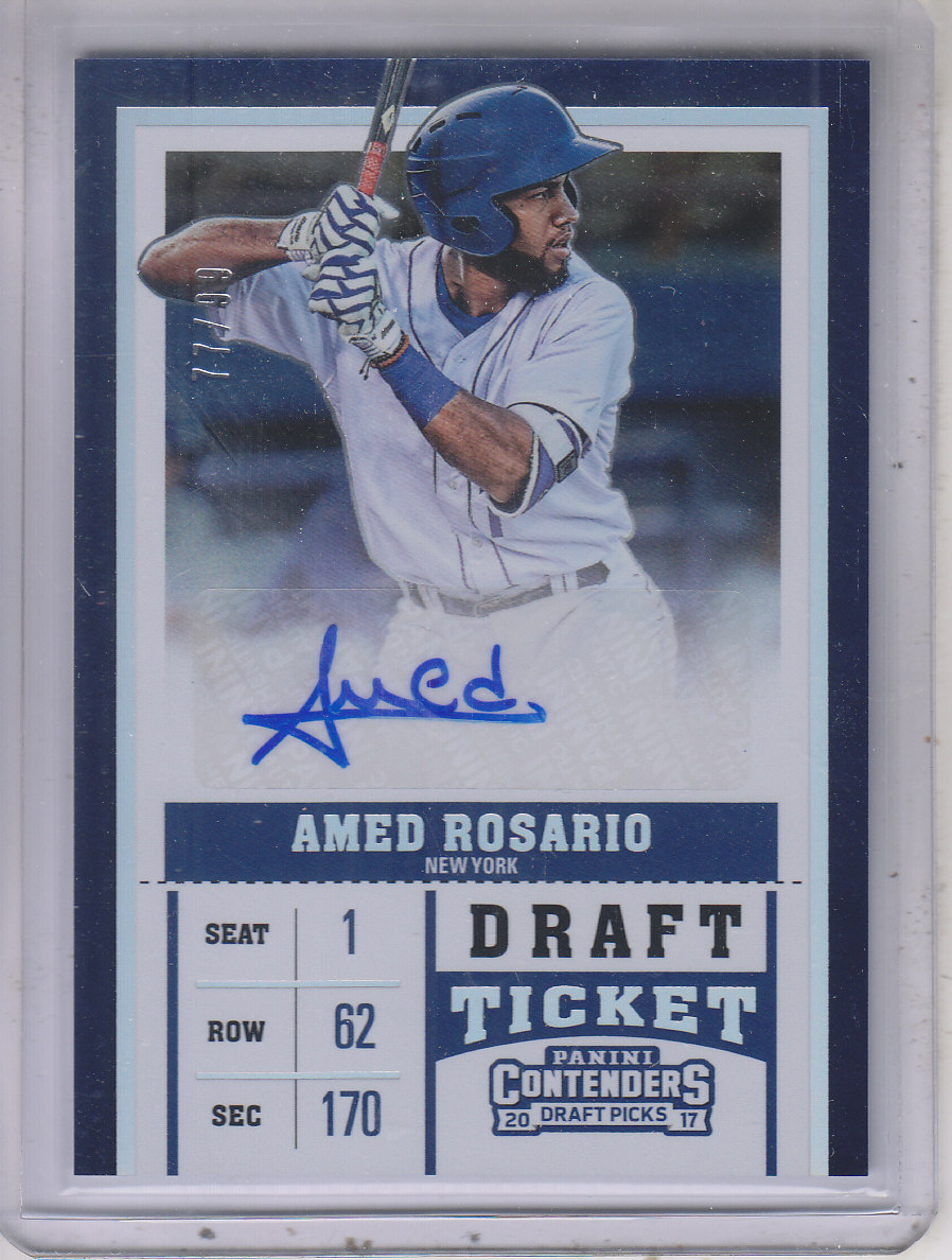 2017 Panini Contenders Draft Picks Prospect Ticket Autographs Draft #12 Amed Rosario/99