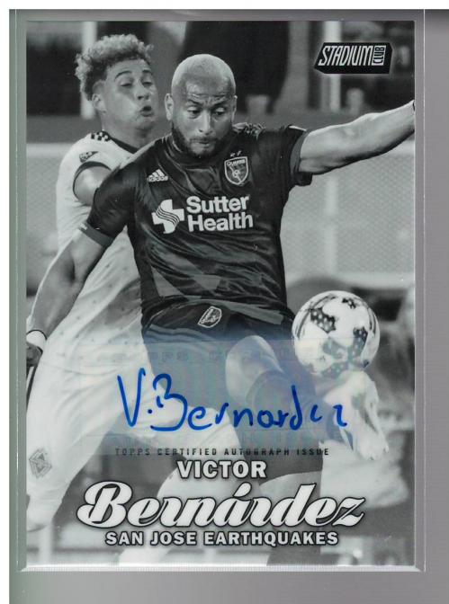 2017 Stadium Club MLS Autographs Black and White #67 Victor Bernardez