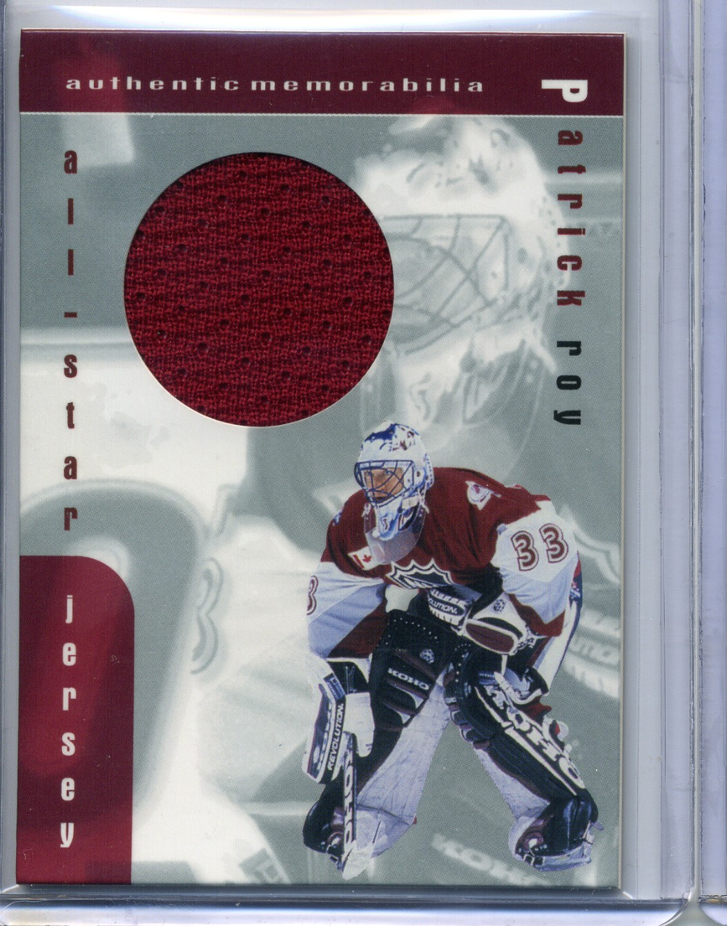 1999-00 BAP Memorabilia Jersey #J6 Patrick Roy