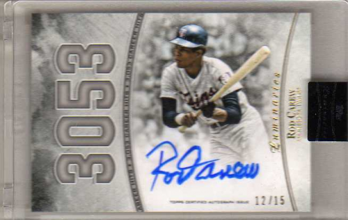 2017 Topps Luminaries Hit Kings Autographs #HKRCA Rod Carew