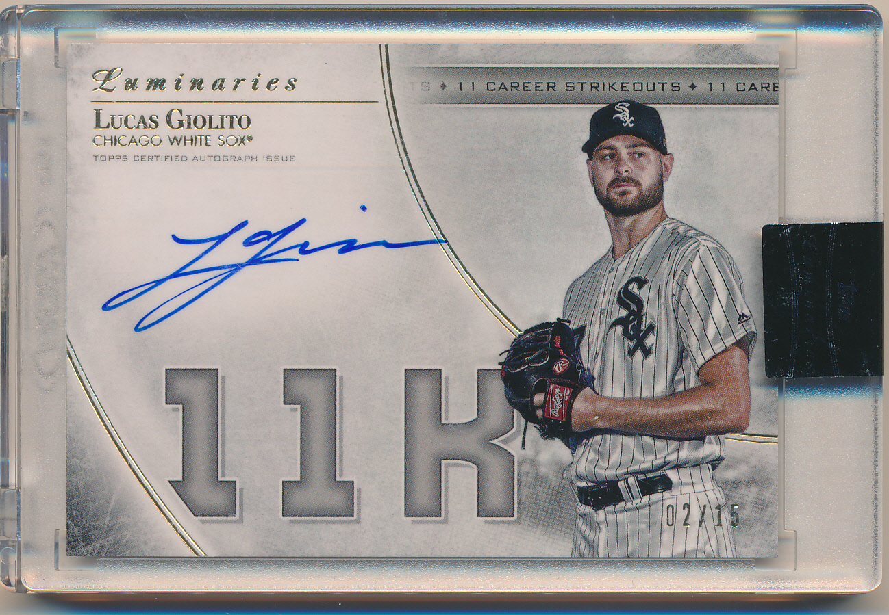 2017 Topps Luminaries Masters of the Mound Autographs #MMLG Lucas Giolito