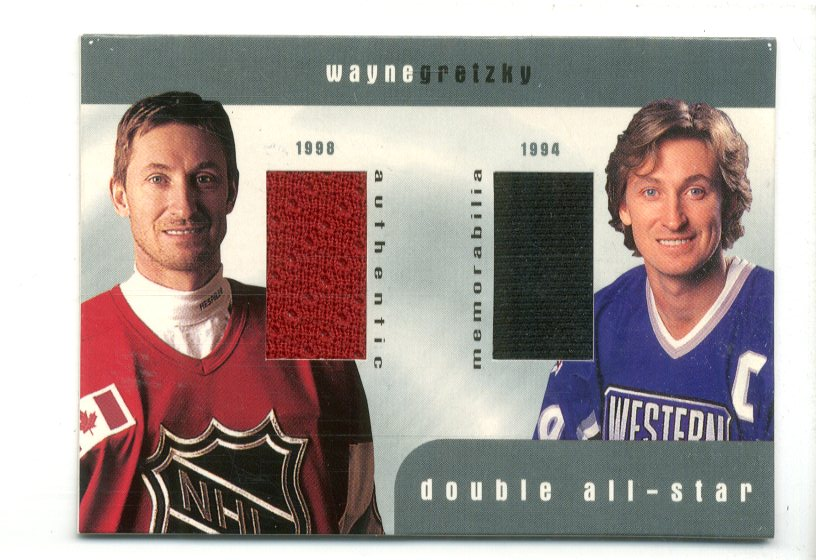 1999-00 BAP Update Double All Star Jerseys #D9 Wayne Gretzky