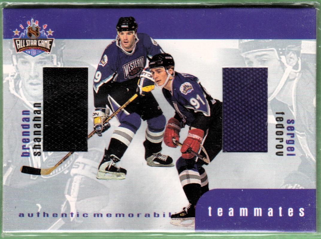 1999-00 BAP Update Teammates Jerseys #TM5 Brendan Shanahan/Sergei Fedorov