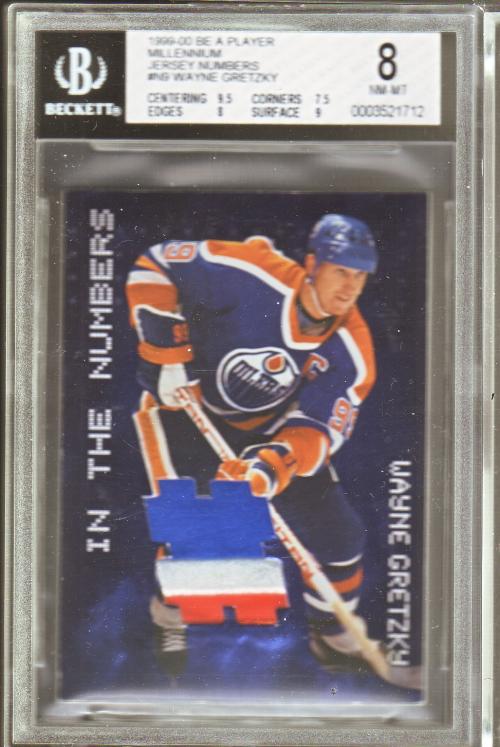 1999-00 BAP Millennium Jersey Numbers #N9 Wayne Gretzky