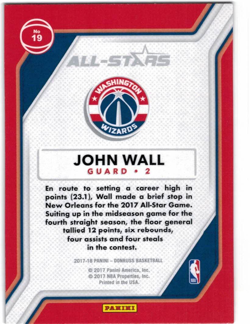 2017-18 Donruss All-Stars #19 John Wall back image