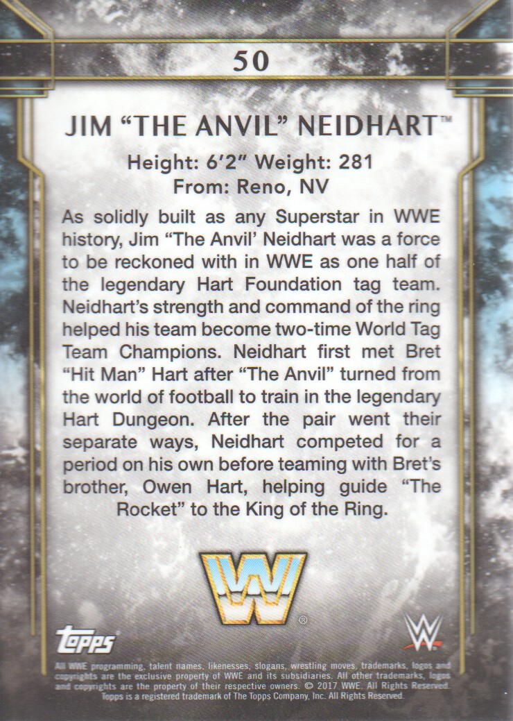 Details about 2017 Topps Legends of WWE Wrestling #50 Jim